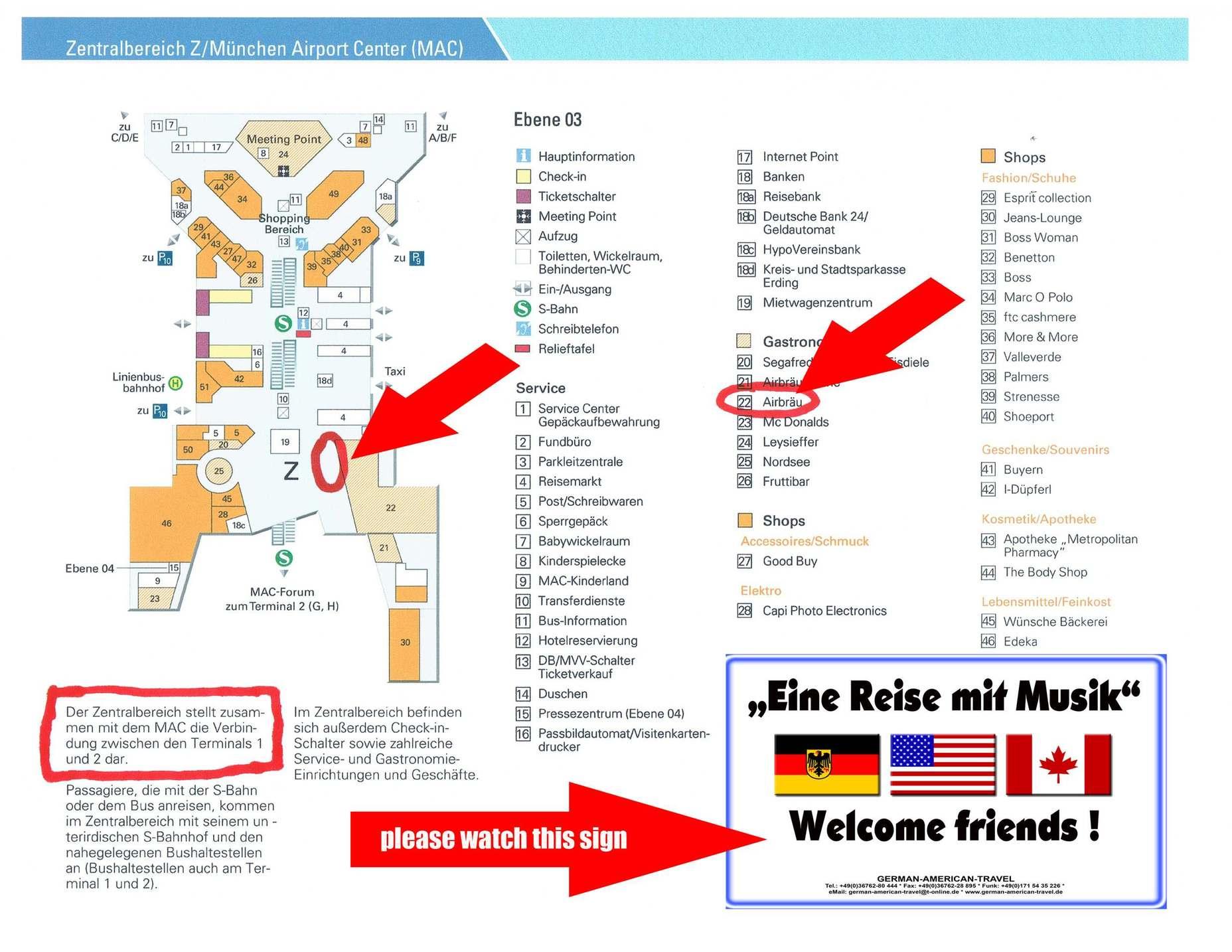 Munich airport map munich muc airport terminal map munich hotel at munich airport germany gallery of hotel at munich munich airport map ccuart Images